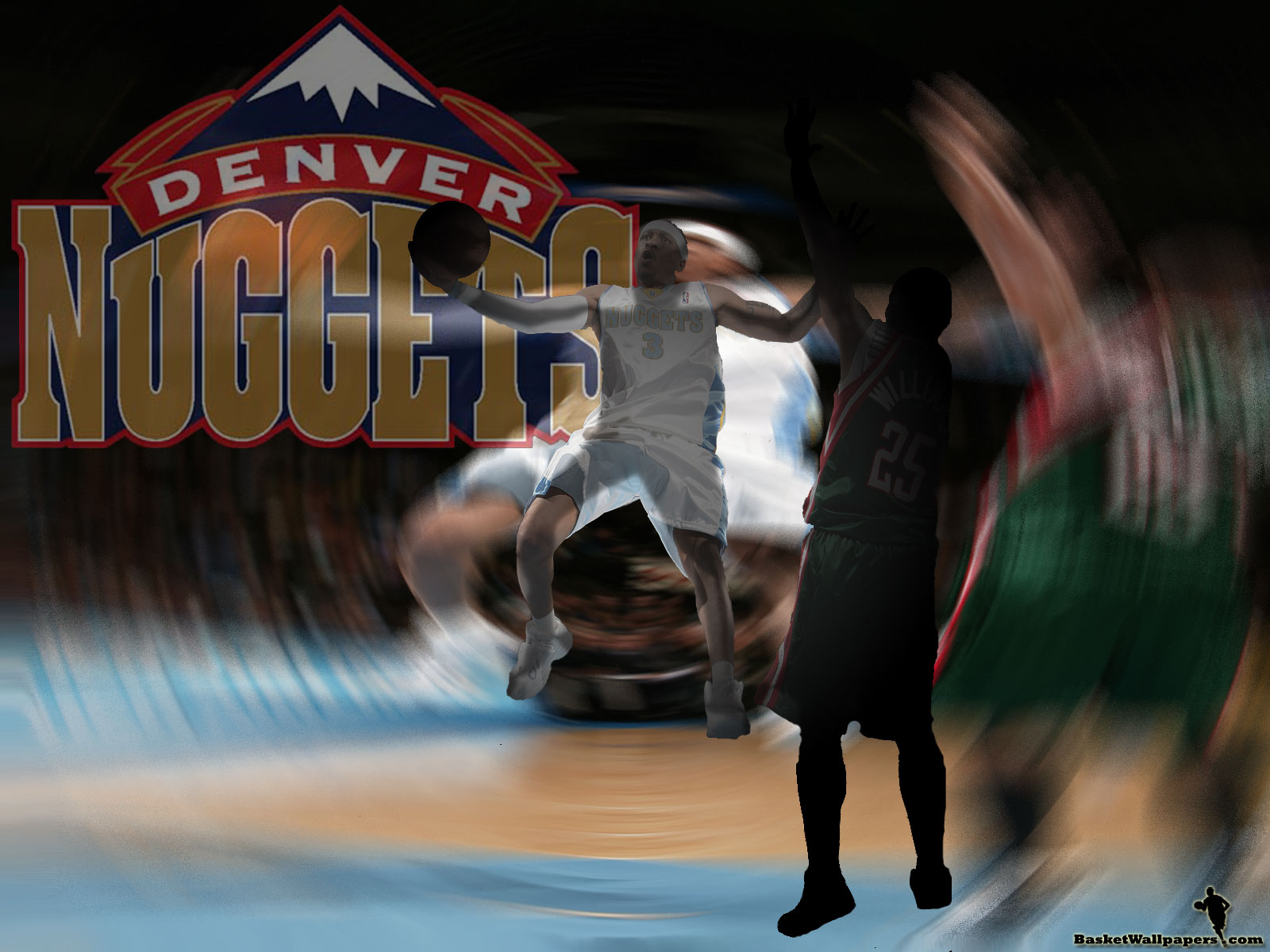 Allen Iverson Denver Nuggets Wallpaper