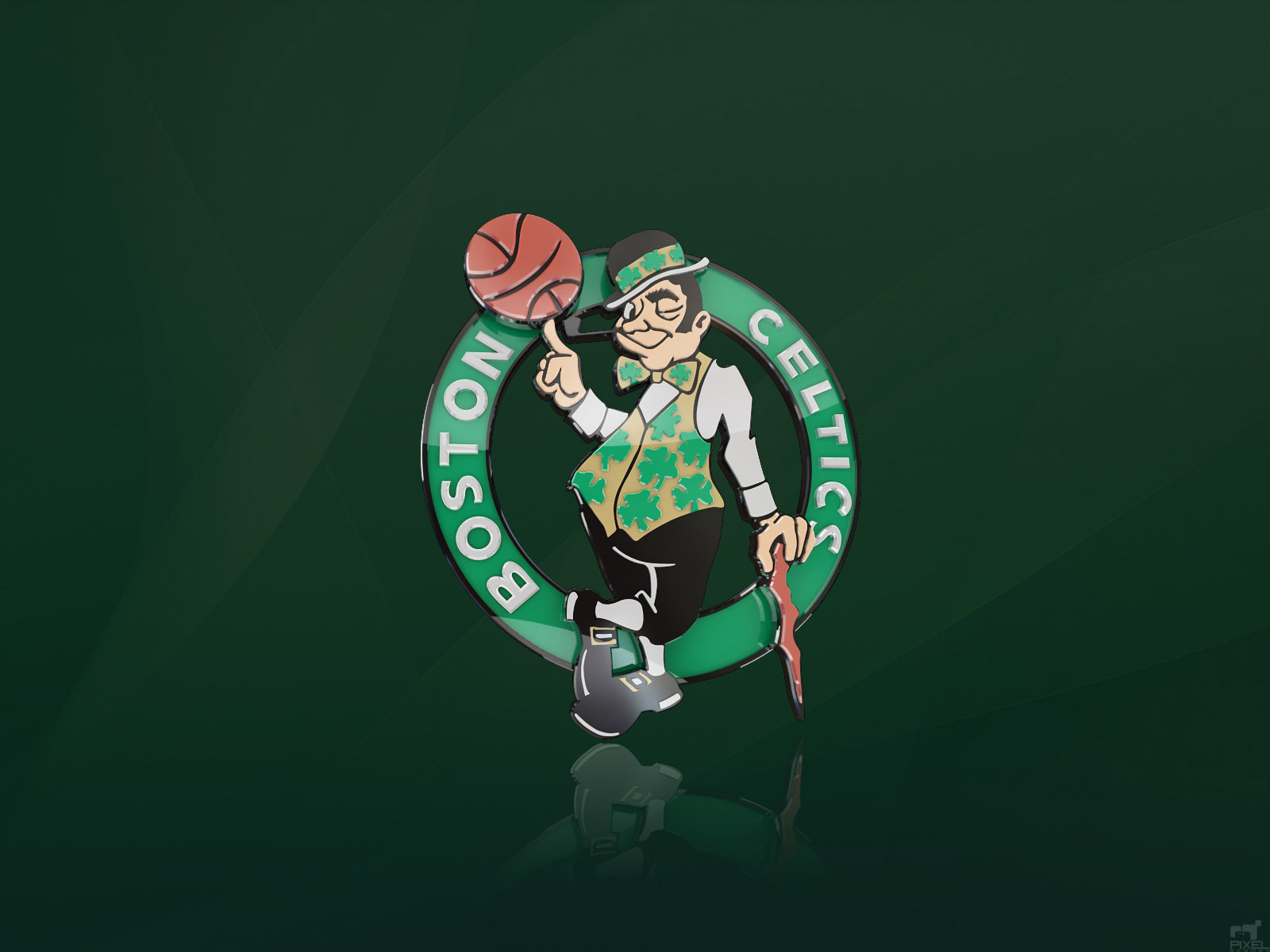 Boston Celtics 3D Logo Wallpaper