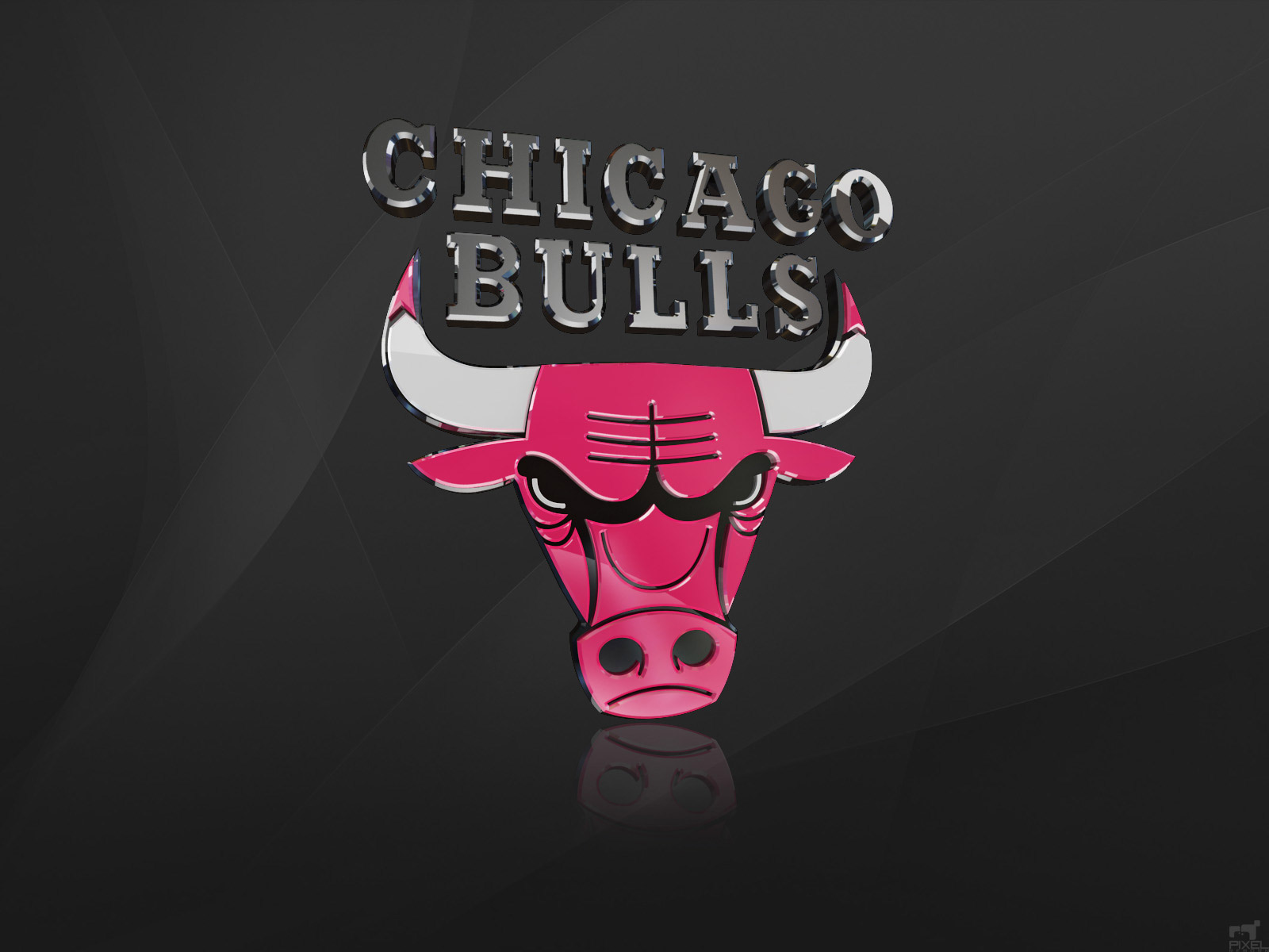 Chicago Bulls 3D Logo Wallpaper