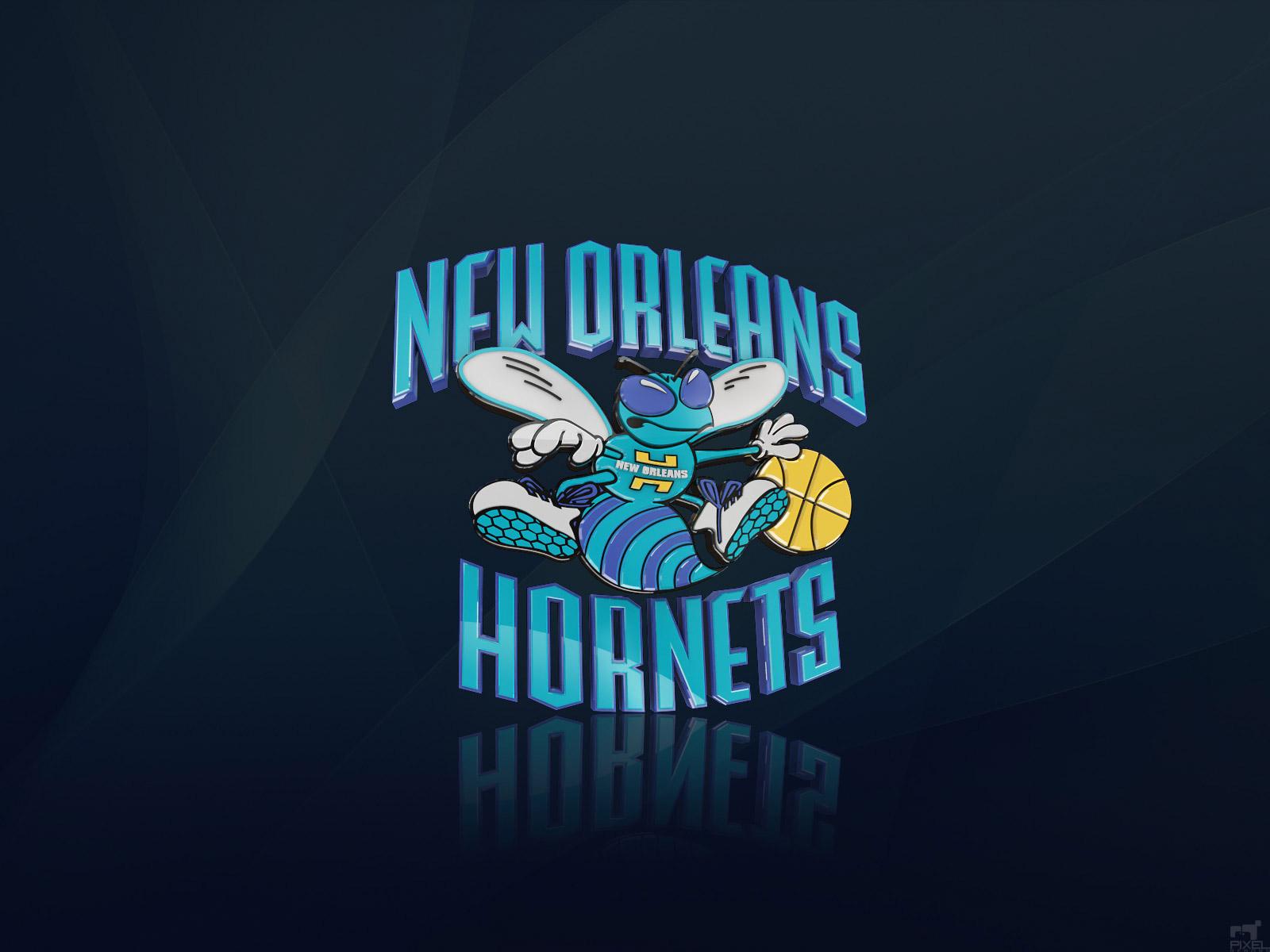 New Orleans Hornets 3D Logo Wallpaper