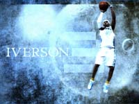 Allen Iverson Denver Nuggets Widescreen Wallpaper