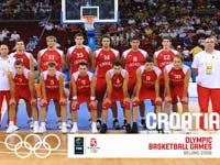 Croatia Basketball Olympic Team 2008 Wallpaper