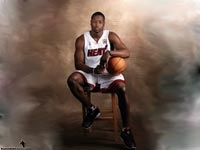 Dwyane Wade Sitting Wallpaper