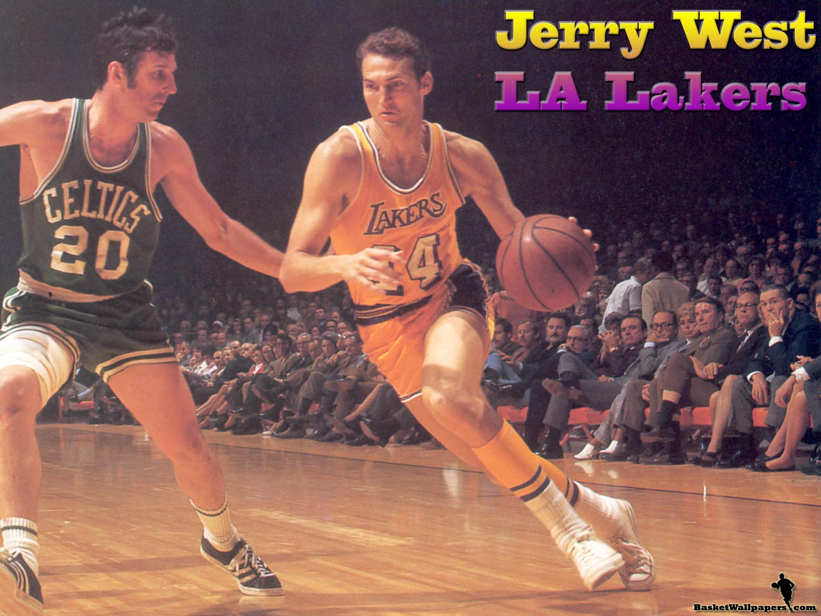 Lakers Logo on Legends And Man Whose Silhouette Is Used In Official Nba League Logo