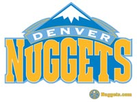 Denver Nuggets White Logo Wallpaper