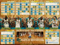 New Orleans Hornets 82 Nights 2009 Wallpaper