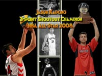 Jason Kapono 2008 3pt Shootout Champion Wallpaper