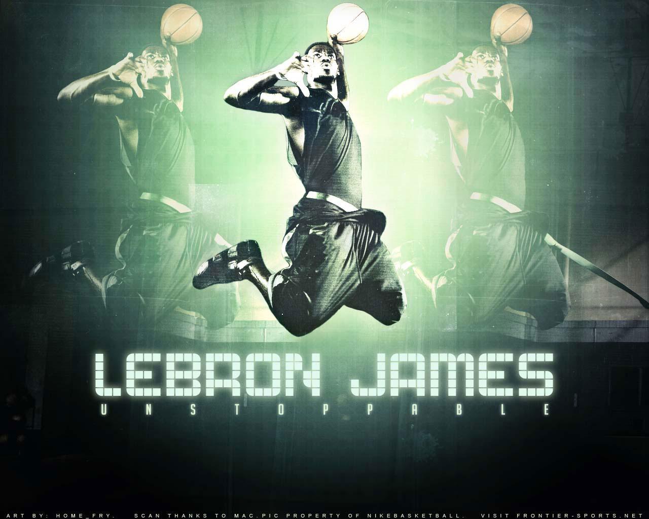 LeBron James Dunk Wall...