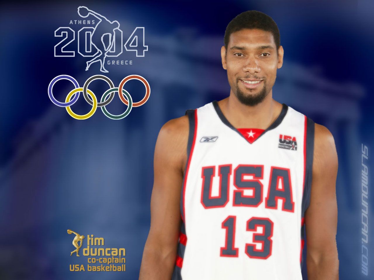 Tim Duncan Olympics 2004 USA Team Wallpaper - Basketball Wallpapers