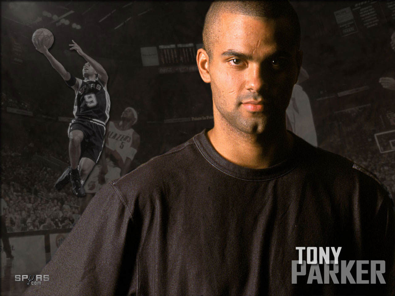 Tony Parker Portrait Wallpaper | Basketball Wallpapers at ...