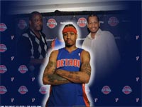 Allen Iverson Detroit Pistons Wallpaper