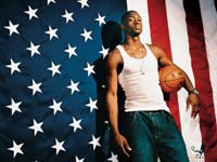 Dwyane Wade USA Flag Wallpaper