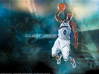 Gilbert Arenas Dunk Wallpaper