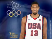 Tim Duncan Olympics 2004 USA Team Wallpaper