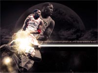 Tracy McGrady Space Dunk Wallpaper