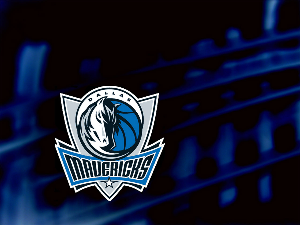 And the second wallpaper of Dallas Mavericks with team logo and dark ...