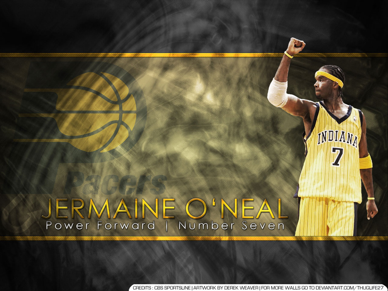 Jermaine O Neal Indiana Pacers Wallpaper