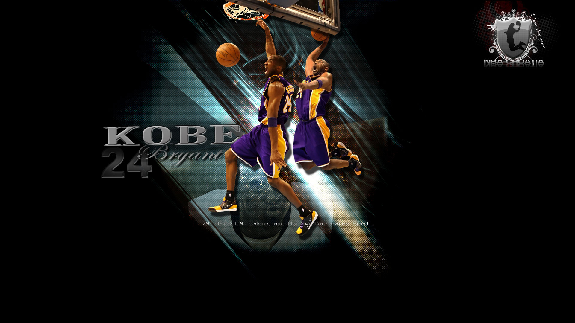 "first one is wallpaper of Kobe Bryant dunking the ball with text: ""29."
