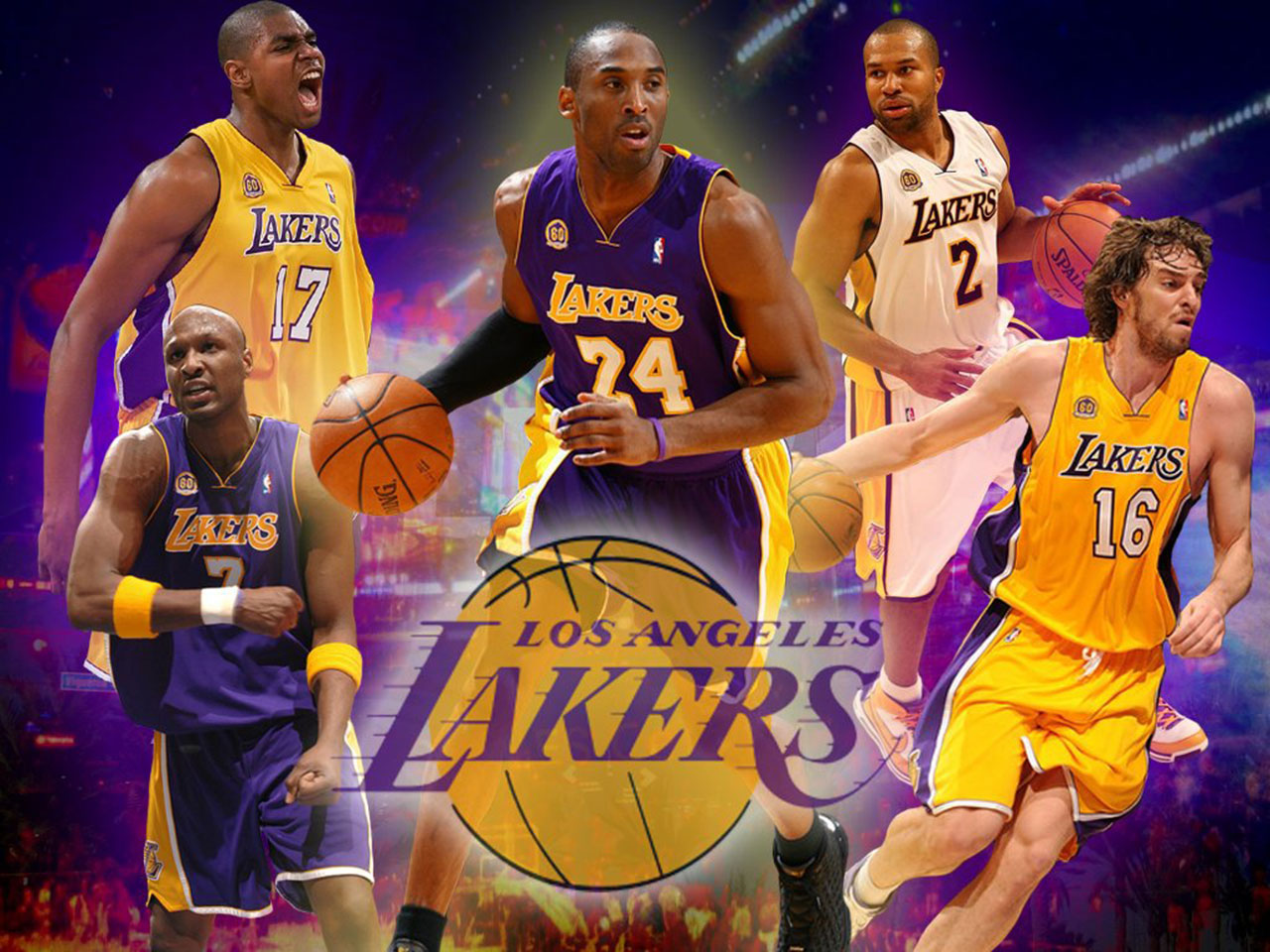 second lakers wallpaper is wallpaper of lakers starting 5 for season