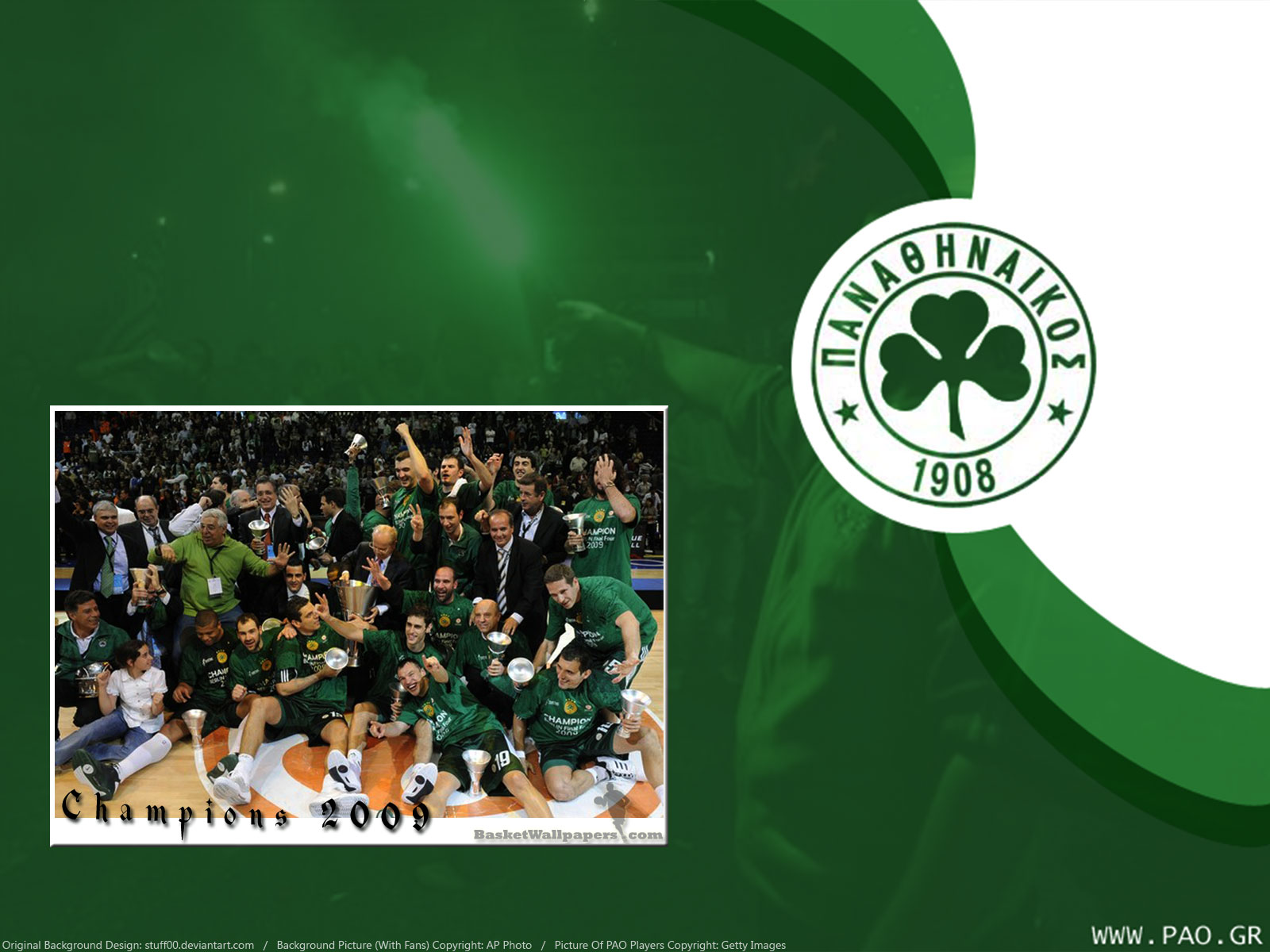 Here's wallpaper of 2009 Euroleague champions - Panathinaikos :) i meant to