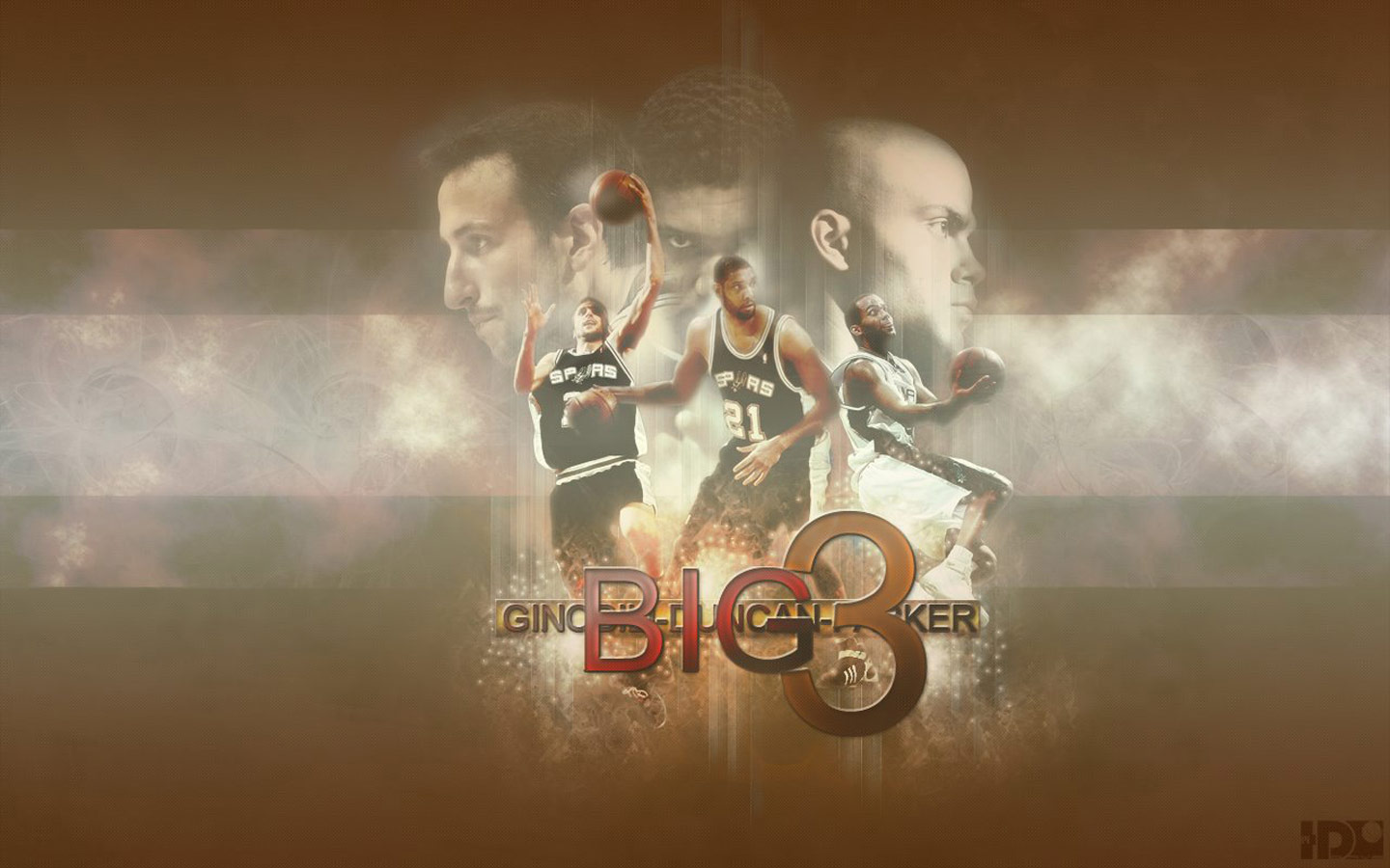 Here's new wallpaper of San Antonio Spurs, featuring Spurs big 3 - Tim ...