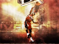 Allen Iverson Sixers Retro Wallpaper
