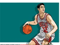 Kirk Hinrich Drawn Wallpaper