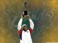 LeBron James 2009 MVP Award Wallpaper