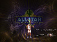 Nate Robinson Slam Dunk Over DH Wallpaper