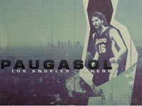 Pau Gasol Lakers Widescreen Wallpaper