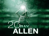 Ray Allen Celtics No. 20 Wallpaper