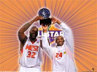 Shaq And Kobe NBA All-Star 2009 MVPs Wallpaper