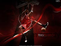 Tracy Mcgrady Slam Dunk Wallpaper