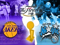 Lakers - Magic 2009 Finals Widescreen Wallpaper