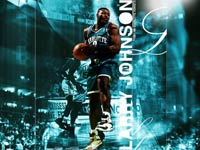 Larry Johnson Hornets Widescreen Wallpaper