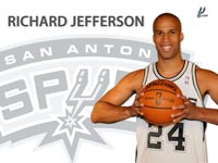 Richard Jefferson Spurs Widescreen Wallpaper