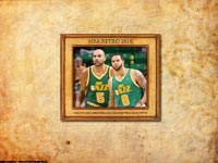 Carlos Boozer & Deron Williams Jazz Retro Wallpaper
