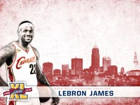 LeBron James Cavs 40 Wallpaper