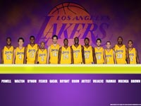 LA Lakers 2010 Roster Widescreen Wallpaper