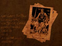 Larry Bird Career Bio Wallpaper