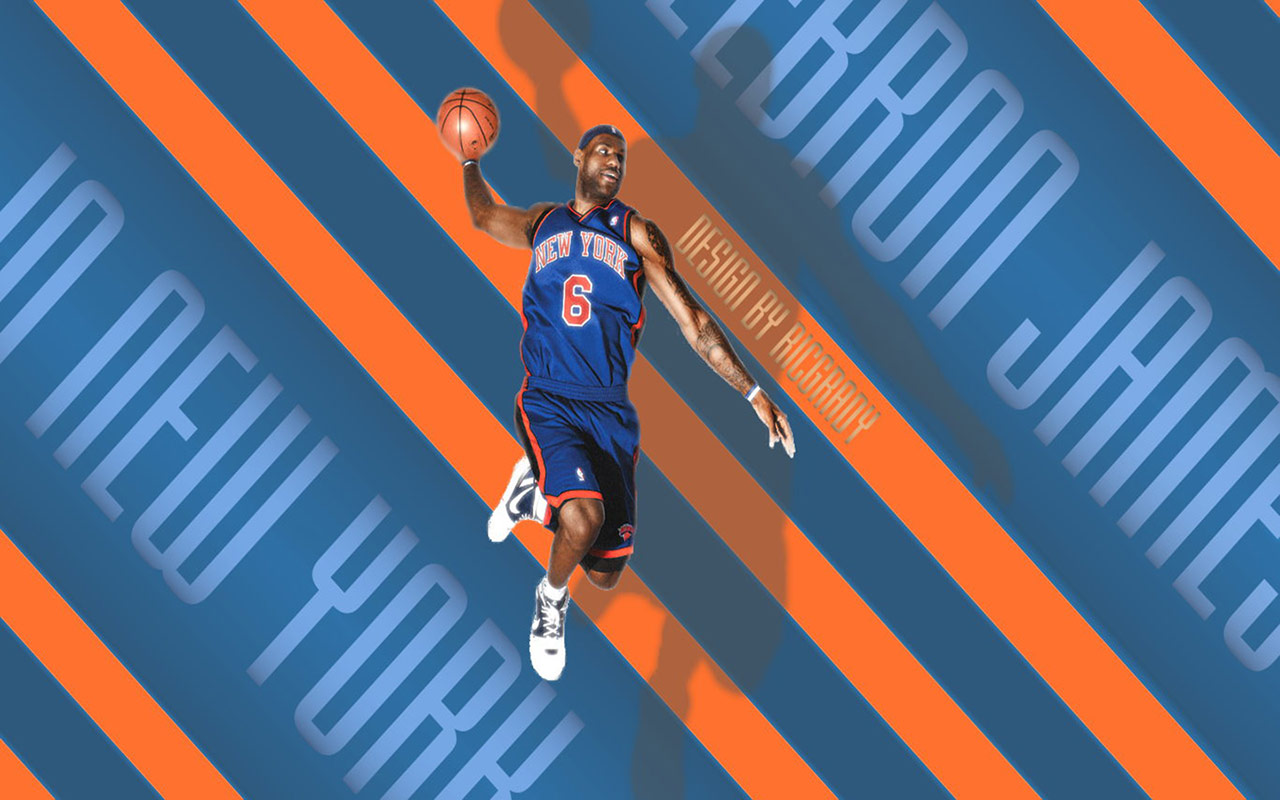 LeBron James Knicks Jersey Wallpaper Basketball Wallpapers at