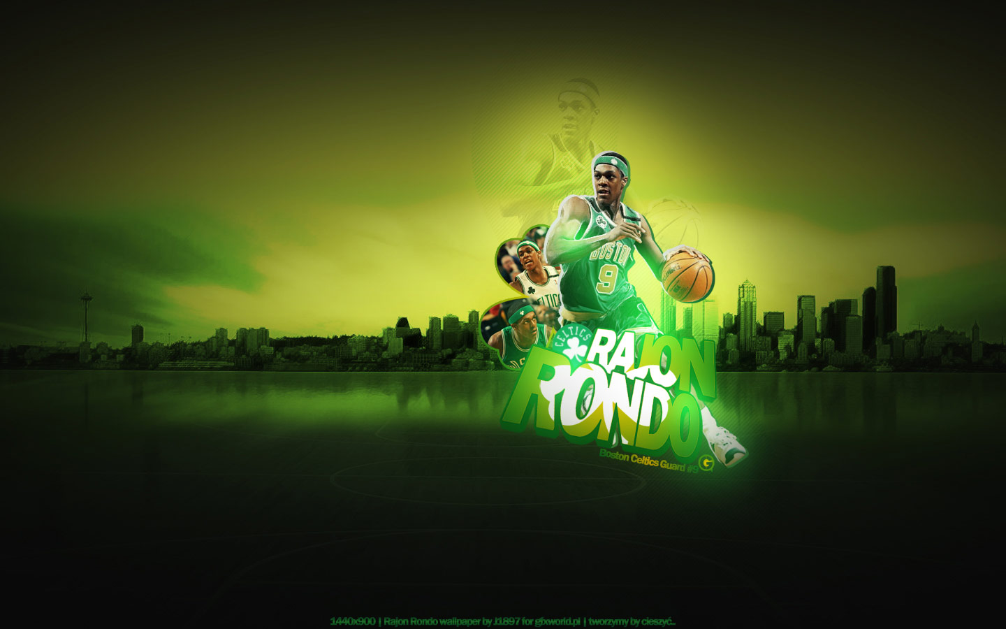 Rajon Rondo Boston Widescreen Wallpaper