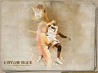 Dwyane Wade Dunk Over Anderson Varejao Wallpaper