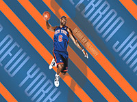 LeBron James Knicks Jersey Wallpaper