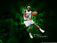 Rajon Rondo 2010 Widescreen Wallpaper