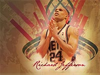 Richard Jefferson Nets Widescreen Wallpaper
