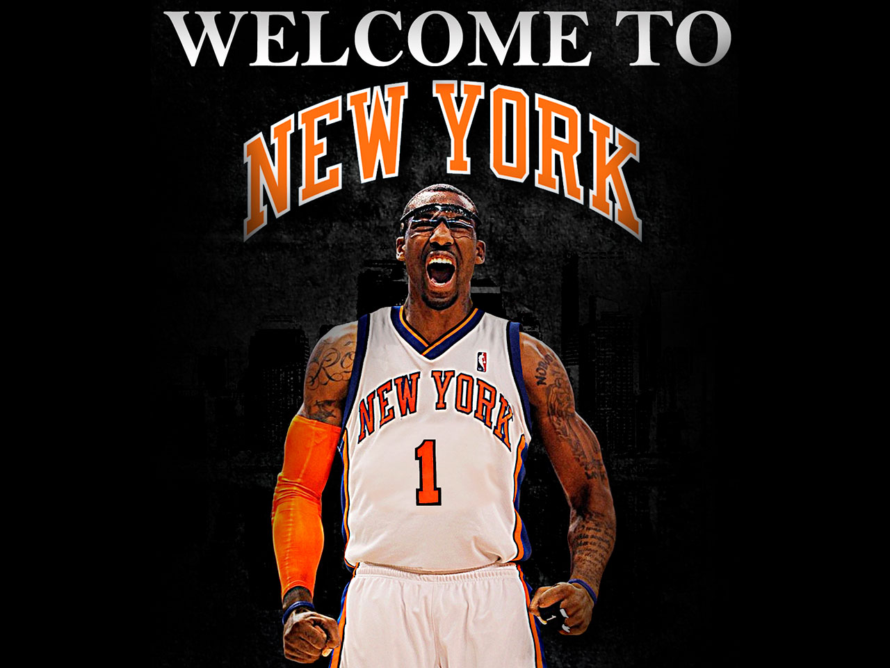 ... in new york KNICKS jersey and note welcome to new york wallpaper