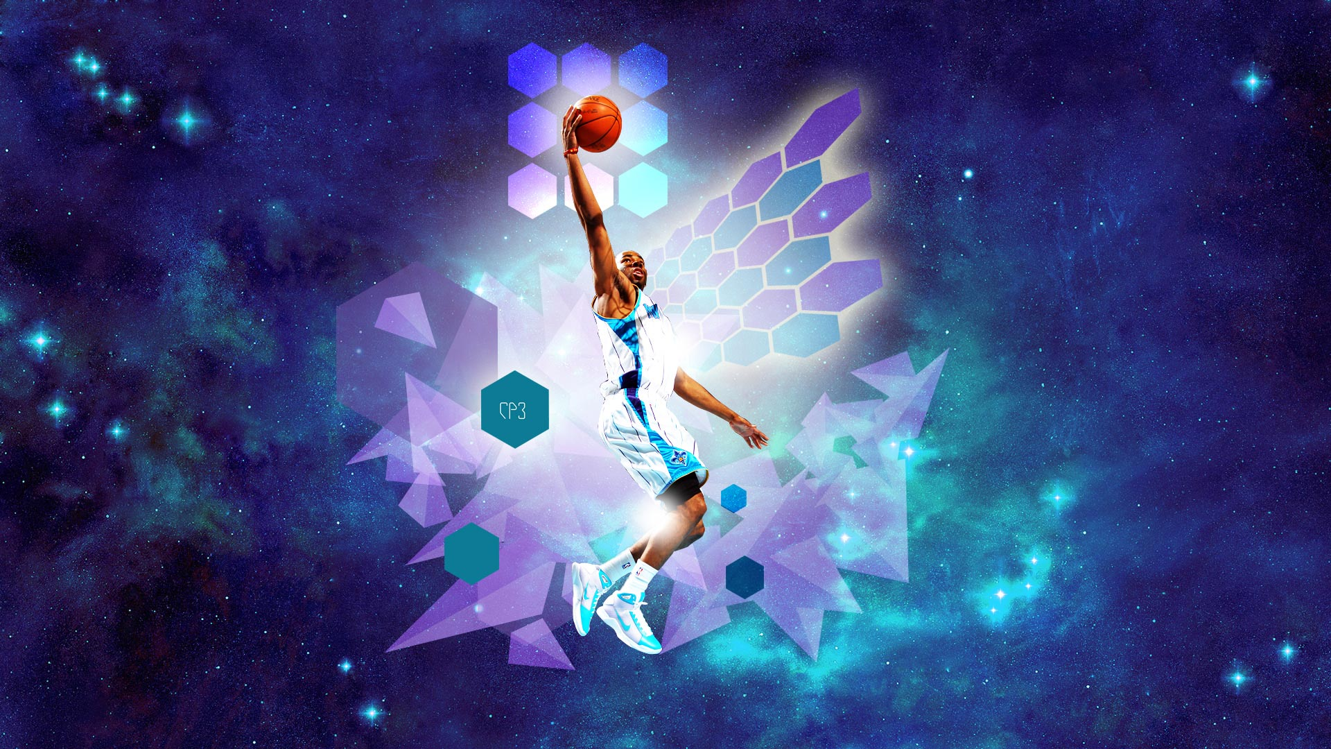 New Orleans Hornets Wallpapers CP3 Layup In Space Widescreen Wallpaper