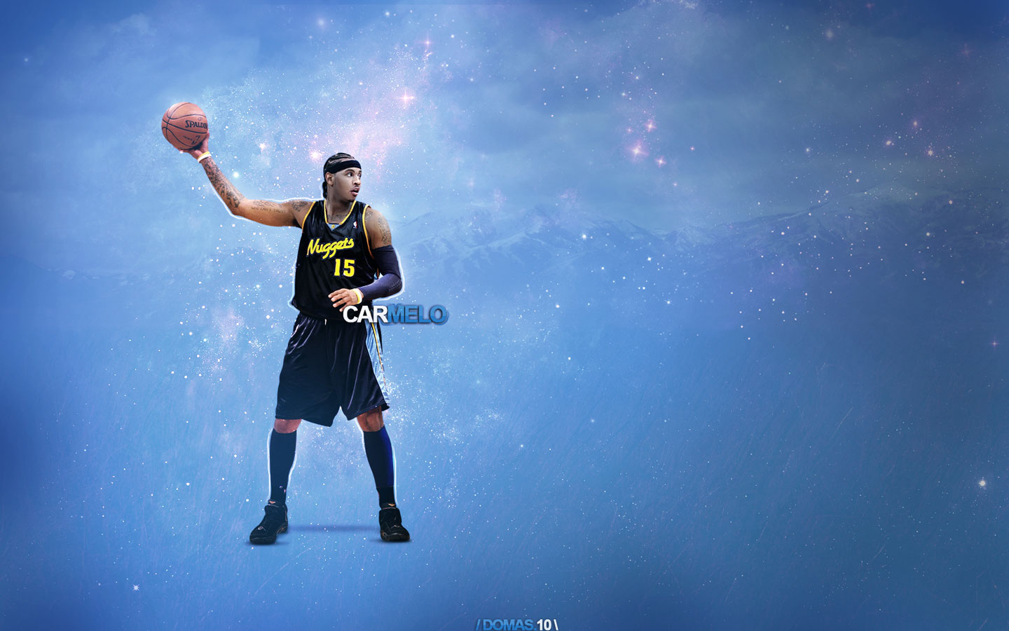 Carmelo Anthony Nuggets 2010 Widescreen Wallpaper