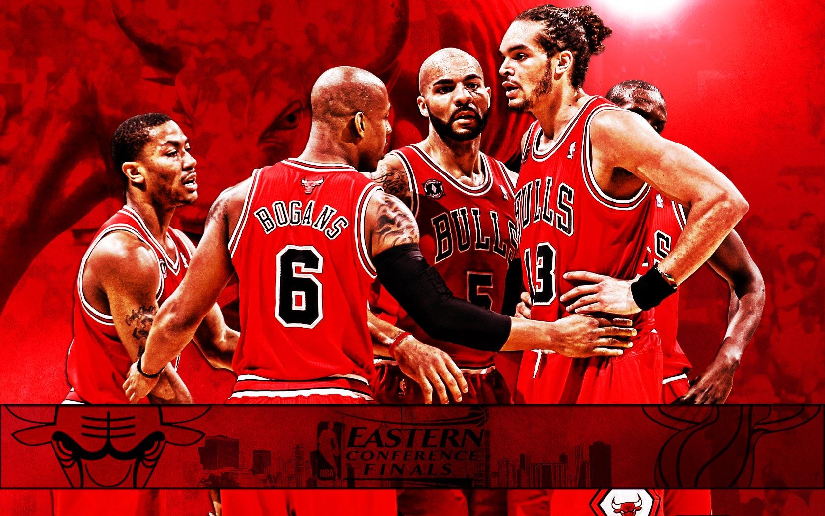 Next is widescreen wallpaper of Chicago Bulls team made for 2011 NBA ...